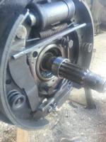 Rear Axle Roller Race Stuck