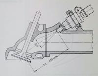 L-Jetronic injector mount and spray pattern specs