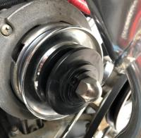Power steering pulley modification