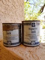Mango and Gulf Blue / Golf Blau paint cans