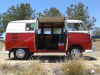 Split window bus cargo door mini awning