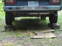 Vanagon on Wooden Ramp