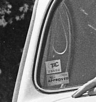 ca. 1970s California smog sticker