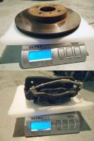 Brake rotor and caliper weight