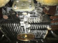 Underside of motor