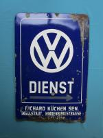 Original Dienst sign from Richard Küchen in Ingolstadt Germany