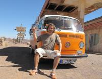 Rolf-Stephan Badura with 1979 VW L Bus Camper
