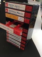 BASF audio-cassette modular storage drawers