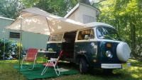 1977 Westy set up for camping