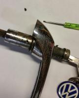 Sliding door lock removal