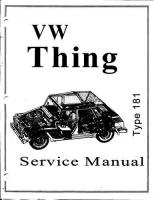 Pic of VW Thing Shop Manual For Free Download