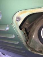 Gas door bumpers