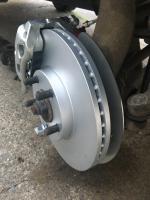 Burley front brake backing plate