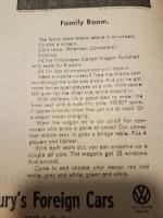 Vintage VW Advert