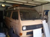 Vanagon westy as storage shed