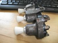 Three different pre 1960 headlight switches, screw terminals