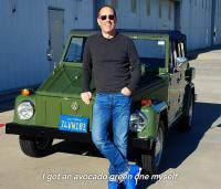 COMEDIANS IN CARS DRINKING COFFEE - VW THING