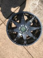 Black chrome sample wheel