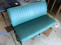 Bay window middle seat converted for early bus