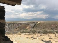 Busses & Rio Grande Gorge Bridge Taos, NM