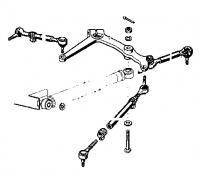 swing lever steering damper