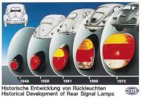 vw bug rear taillights history
