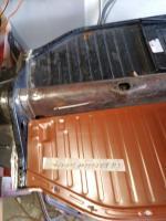 Floor pan welding on 64 dune buggy
