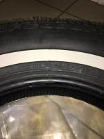 """BFGoodrich Silvertown Radial 165R15 3/4"""" whitewall - sidewall details"""