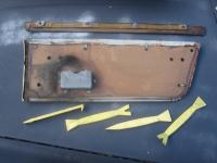 Notchback rear upper door panel removal
