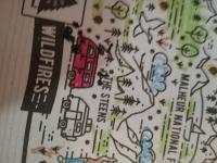 Vanagon sighting on a place mat