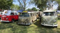 Variety of Bay Window Buses at the Nor-Cal Bus Fest in Antioch CA, Sun. Aug 19th, 2018