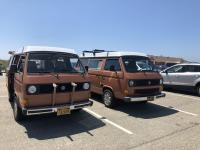 Two Asuan brown Vanagon Westys
