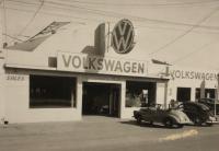 Vintage VW dealership photo