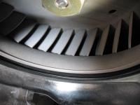 Cooling fan gap