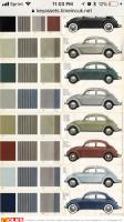 Color chart for 1960
