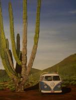 Painting my wife did of our 65 deluxe in Mexico.