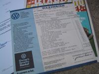 1974 Super Beetle dealer price sticker