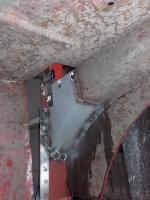 lower section left B-pillar