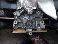Disassembled rear of 71 bus engine