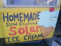 Solar ice cream Bus