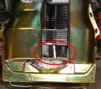 deflector installed
