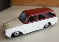 Bandai Squareback with white body and red roof