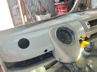 Extra gauge holes welded up
