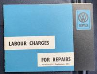 Labour Charges for Repairs - Australian service booklet