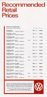 September, 1970 UK Vehicle Price List
