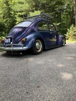Stock beam lowered VW Beetle