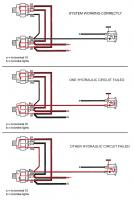 Brake lamp and warning lamp modes
