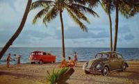 Single Cab and Beetle at beach