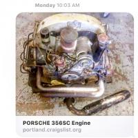 Craigslist AD of the 356SC engine I just bought