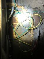 Wire under rear seat